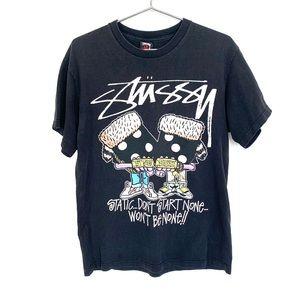 🔥Rare Vintage Stussy Shirt M Hip Hop Dice 90's